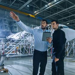 Conseil et conduite<br /> du changement dans<br /> le secteur aérospatial
